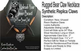 great bear claw grizzly necklace