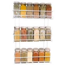 Tier Spice Rack Amazoncom Evelots 3 Tier Wall Mounted Spice Rack White Kitchen