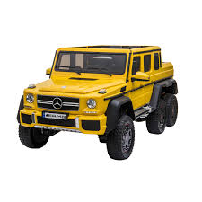 Please provide a valid price range. Kool Karz Mercedes Benz G63 Amg 6x6 12v Electric Ride On Toy Car Yellow Walmart Com Walmart Com