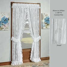 Priscilla Curtains For Bedroom Living Room 2018 Including Charming Maison  Semi Sheer Lace Ruffled Images