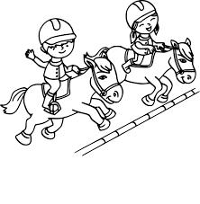 Coloriage Equitation Imprimer