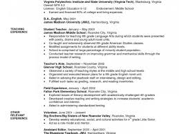 Middle School Teacher Resume Resume Templates