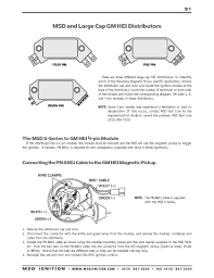 msd ignition wiring diagrams hei distributor wiring at Gm Ignition Module Wiring Diagram Free Picture
