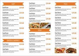 Catering Menu Templates Free Catering Menu Template Download Hotel A Family Restaurant Menus