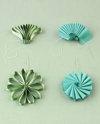 How To Make A Paper Ribbon Flower Ribbon And Bow Accessory How Tos Paper Pinterest Ornaments
