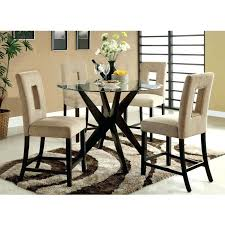 inch round tempered glass dining table enlarge counter height extendable