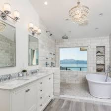 Image Homecrest Example Of Master Gray Tile And Subway Tile Gray Floor Bathroom Design In San Francisco Houzz 75 Most Popular Bathroom With White Cabinets Design Ideas For 2019