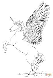 Small Picture Unicorn with wings coloring page Free Printable Coloring Pages