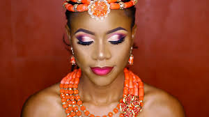 nigerian bridal makeup tutorial traditional ft a half cut crease and ombre lips