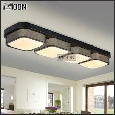 ceiling mount light fixture. Rectangle Modern Ceiling Lights Bedroom Black Shade Flush Mounted Acrylic LED Lamp Fixture For Kitchen, Bedroom, Bathroom-in From Mount Light