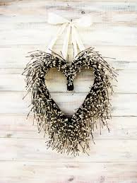 Winter Wedding Decor Valentine Wreath Wedding Wreath Heart Wreath Wedding Decor Winter
