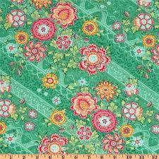 Amy Butler Home Decor Fabric Amy Butler Lark Glamour Heirloom Jade Green Discount Designer