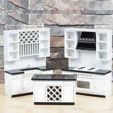 dollhouse kitchen furniture. Exellent Furniture 112 Dollhouse Miniature Furniture WhiteBlack Delxue Kitchen Set NewUS On