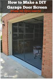 how to make a garage door screen keep out flying insects such as mosquitos stink bugs bees moths flies and gnats thrift diving