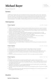 Engineering Resume Samples Templates Visualcv