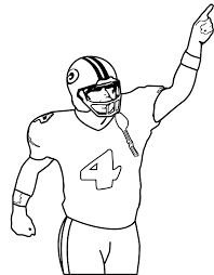Player Nfl Football Coloring Pages Get Coloring Pages