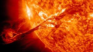 Can solar flare penetrate our atmosphere