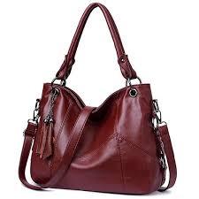 ear leather handbag shoulder tassel