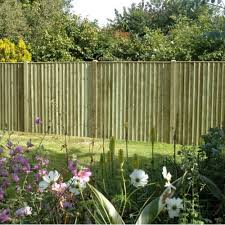 feather edge fence panel 6ft h x 6ft w tana green