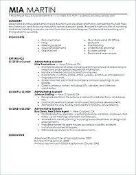 Executive Administrative Assistant Sample Resume Admin Assistant ...