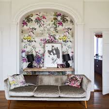 Wallpaper Designs For Living Rooms Clever Designs For Alcoves Ideal Home