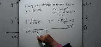 how to solve for x intercept math how to find the x y intercepts of rational functions a math math solver graph