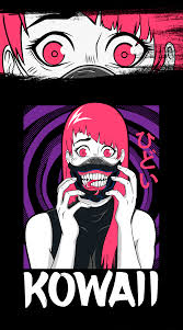 Otaku Design Creepy Anime Girl Horror For Otakus T Shirt On Student Show