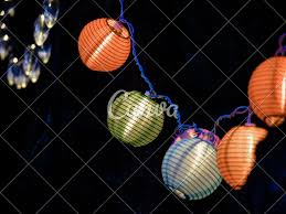 Outdoor Lighting Japanese Lanterns Glowing Japanese Lantern Style Colorful Electric Outdoor