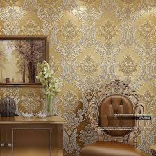 luxury classic wall paper home decor background wall damask wallpaper golden fl wallcovering 3d velvet wallpaper living room free wallpaper hd