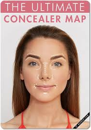 concealer makeup map tutorial