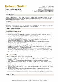 Training Specialist Resume Retail Sales Specialist Resume Samples Qwikresume