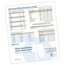 2019 Postage Rate Chart Direct Mail Production Digital Marketing Integration