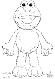 Elmo coloring page | Free Printable Coloring Pages