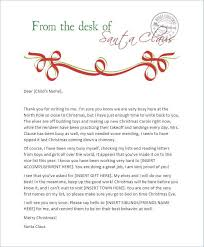 Free Letter From Santa Word Template Blank Santa Reply Letter Template Free Printable Letter From