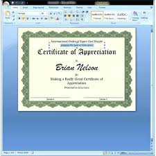 Free Certificate Templates For Word Of Appreciation Template In