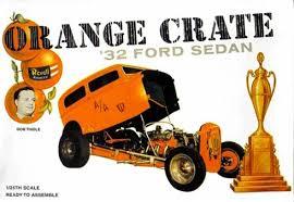Orange Crate 1932 Ford Altered Sedan by Bob Tindle (1/25) (fs)