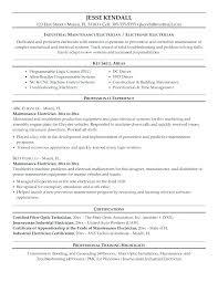Maintenance Man Resume Building Maintenance Resume Electrical ...