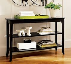 Black modern sofa table White Black Console Table Decor Continental Corner Black Console Table Decor New Home Design Ideas For Console
