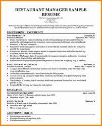 Modern Resume For Restaurant Resume For Restaurant Manager Dragondekomodo Resume