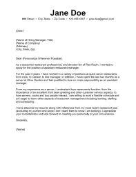 44 Restaurant Cover Letter Release Davidhamed Com