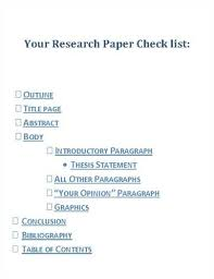 Definition Research Paper Outline Research Paper
