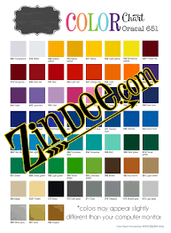 651 Color Chart Oracal 651 75 Sheet Bundle