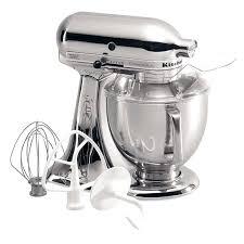 kitchenaid mixer 5 qt sd stand mixer w 5 qt stainless bowl accessories chrome kitchenaid mixer 5 qt