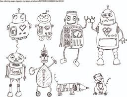 Small Picture robot coloring pages free printable images about robot