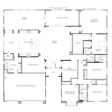 single story floor plans one house pardee homes floorplan 3 5 bedrooms bathrooms 3800 square feet interior design