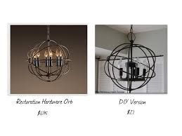 delightful chandeliers restoration hardware 16 knockoff chandelier