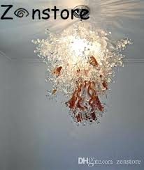 in chandelier art glass chandelier creative design leaves crystal chandelier hand blown glass high quality