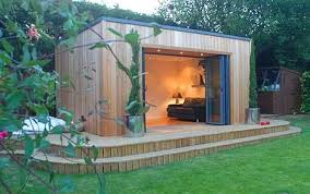 outside office shed. The Very Chic Qube Garden Office, Constructed In Red Cedar, With Insulated Plasterboard Panels Outside Office Shed A