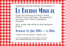highbury grove school le bistrot musical book your ticket now 27 le bistrot musical book your ticket now