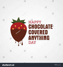 national chocolate covered anything day. Plain Chocolate National Chocolate Covered Anything Day Vector Illustration In Day